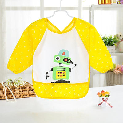 1 Pcs Baby Long Sleeve Bib Toddler Bibs Waterproof Boys Girls Apron Smock Bib Burp Cloths Child Feeding Eating Smock - Dailytechstudios