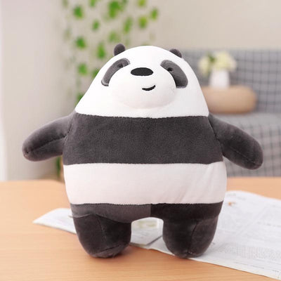 1pc 30cm We Bare bears Cartoon Bear Stuffed Grizzly Gray White Bear Panda Plush Toy Doll Kawaii Birthday Gift for Kids Children  UpCube- upcube