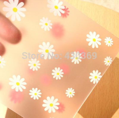 100pcs 12x21(12x18+3)cm Translucent Scrub Flower Packaging Self Adhesive Bags Plastic OPP Jewelry Gift Cookie Bag Poly Bag  UpCube- upcube