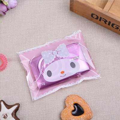 100pcs 10x16cm 10x13+3cm Self Adhesive Bag Cookie Food Bag Packaging Plastic Baking packaging Candy OPP Gift Poly Bag  UpCube- upcube