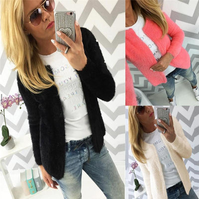 #2533 Women Fashion Warm Solid Slim small Jacket Coat Cardigan D45 - Dailytechstudios