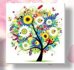 & 33x33cm Four Seasons flower Tree DIY 5D Diamond Embroidery Mosaic crystal needlework diamond Painting Cross Stitch Kits - Dailytechstudios