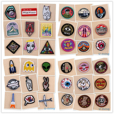 1pcs Mix fashion Patches for Clothing Iron on Embroidered Sew Applique Cute Patch Fabric Badge Garment DIY Apparel Accessories  UpCube- upcube