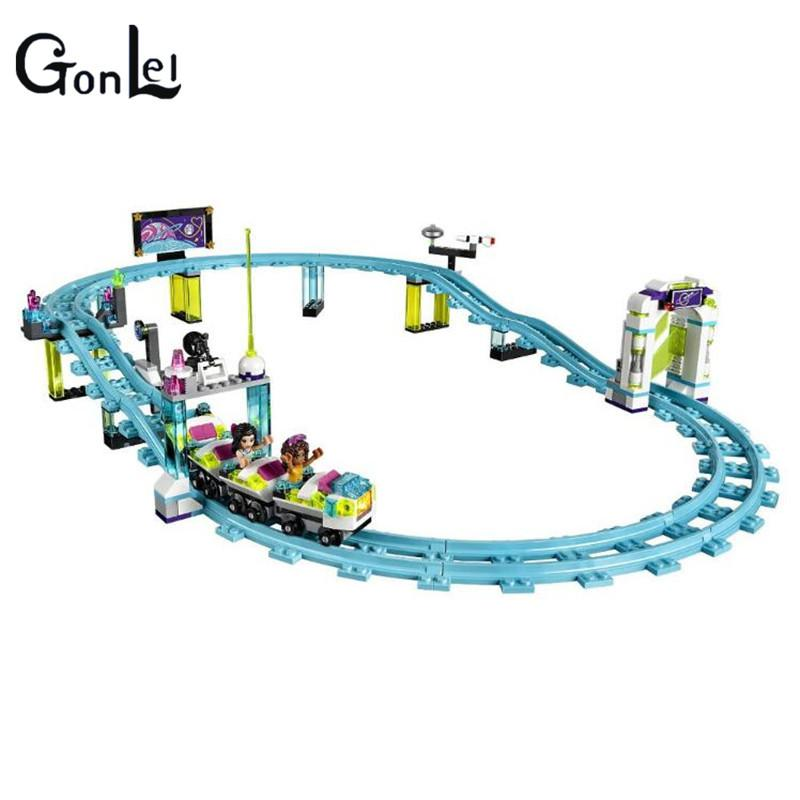 (GonLeI) 10563 Friends Amusement Park Roller Coaster Building Blocks Classic For Girl Kids Model Toy Compatible with kid gift - Dailytechstudios