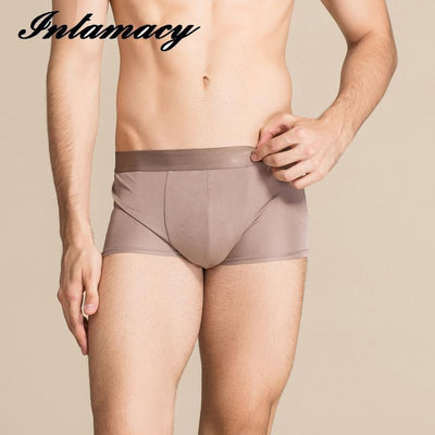 100% real Silk Male Boxer Comfort Waist shorts Sexy Chip Code
