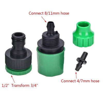 1 Pcs Brand New 4/7mm Or 8/11mm Telescopic Joint Garden Water Hose Pacifier Shape Quick Connectors Import Size G1/2' Or G3/4' - Dailytechstudios