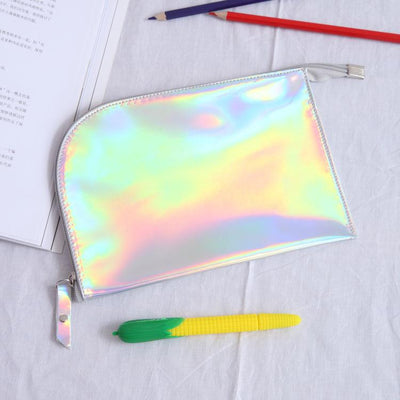 (1pcs/sell) Envelope Laser Clear Womens Travel Cosmetic Bags High Quality Makeup Bag Make Up Bag Neceser Luxury Famous Brands - Dailytechstudios