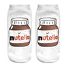 "15 style 1pair/pack 3d white ""nutella""Charactor Unisex Socks Hot women's unisex socks Polyester Fashion 19*8cm Women Socks"