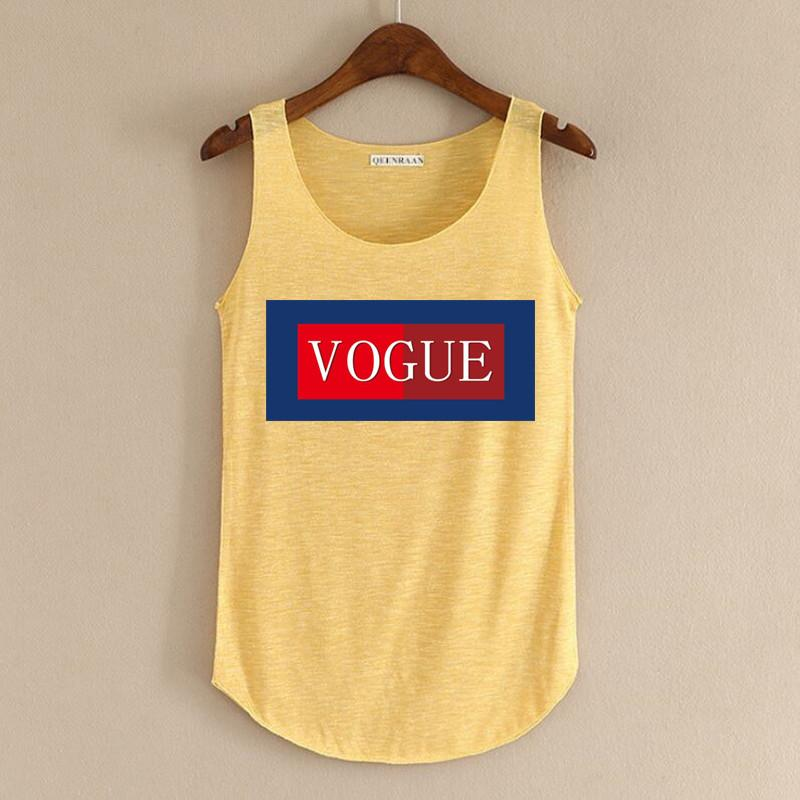 2018 New Summer Vogue Slogan Printed Tank Top Womens Bamboo Cotton Breathable Fitness Sleeveless Crop Top Shirts For Womens