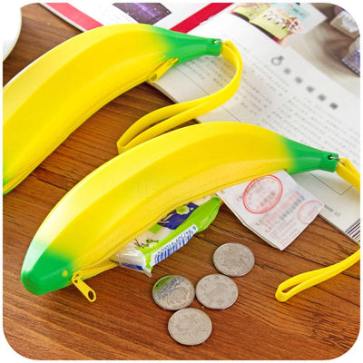1pc Coin Purse Banana Bag Unisex Bag Kids Purse Children's Coin Bags Jewelry Silicone Pencil Case Zipper Pouch Rubber Key Wall  UpCube- upcube