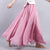 14 Colors Summer Long Skirt Womens Bohemian Brand Circel Cotton Maxi Falda Elastic Waist A-Linen Beach Ankle-Length Skirt