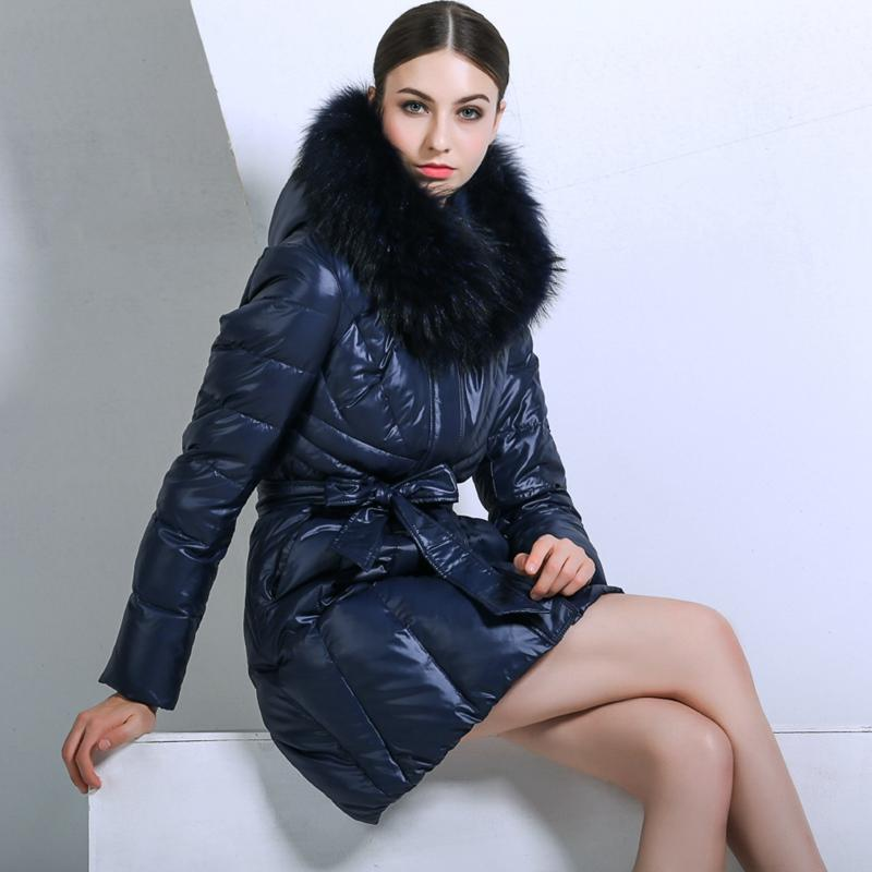 (TopFurMall)2017 Winter Women's Down Parkas Coats 80% Duck Down Raccoon Fur Hooded Lady Outerwear Overcoat 3XL 4XL VK3121
