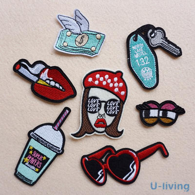 1pcs Mixture Patch for Clothing Iron on Embroidered Sew Applique Cute Patch Fabric Badge Garment DIY Apparel Accessories  UpCube- upcube