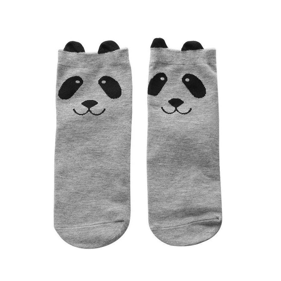 1 Pair Funny Autumn Winter Women Men Sock Animal Cartoon Pandas Pattern Socks Warm Breathable Short Socks - Dailytechstudios