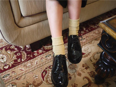 1pair Hot Sale 2017 Shiny Long Socks Autumn and Spring New Fashion Glitter silver Flanging Wild In Tube Socks  dailytechstudios- upcube