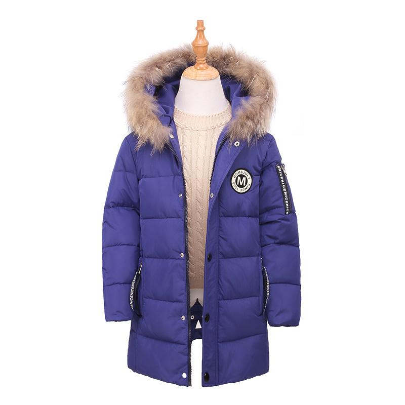 0942b573da56 5-12Y Boys Girl Duck Down Parkas Children Clothes Coat Kids Faux Fur ...