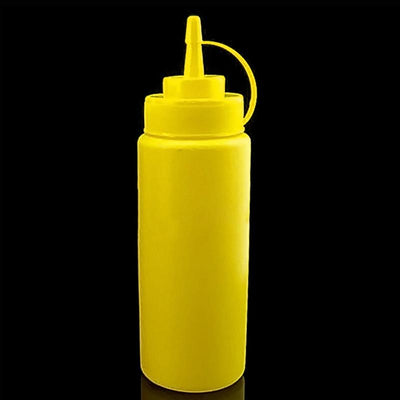 1Pc 450ml 16OZ Squeeze Bottle Condiment Dispenser Ketchup Mustard Sauce Vinegar New -Y102  dailytechstudios- upcube