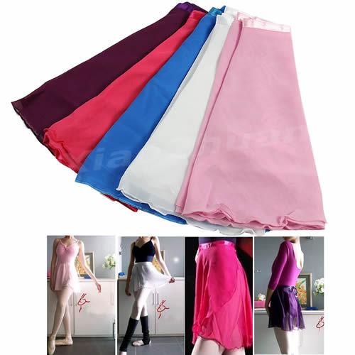 1 PC New Adult Girl Women Chiffon Ballet Tutu Skirt Skate Wrap Scarf 5 colors - Dailytechstudios