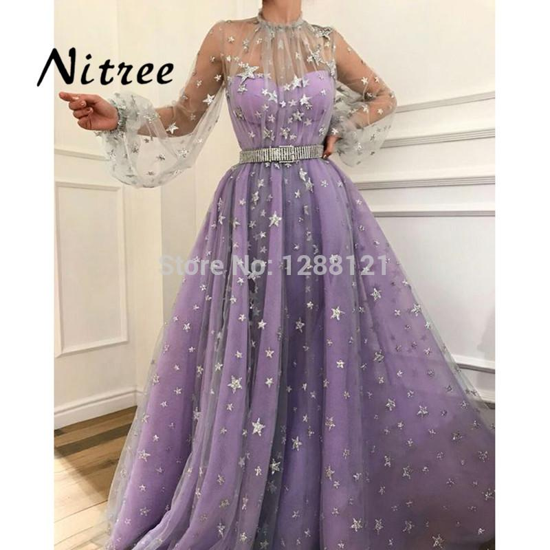 2018 African Bling Star Evening Dresses For Weddings Moroccan Kaftans Gowns  Dubai Turkish Arabic Aibye Prom 91c44d9a1596
