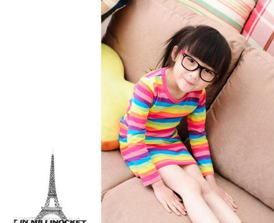 2017 girl dresses Rainbow girl print dress brand children's clothing spring new princess dress for girl baby clothting available  UpCube- upcube