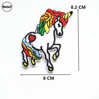 1 PCS Snake Unicorn parches Embroidered Iron on Patches for Clothing DIY Eye Stripes Clothes Toy gun Stickers Custom Badges @P - Dailytechstudios