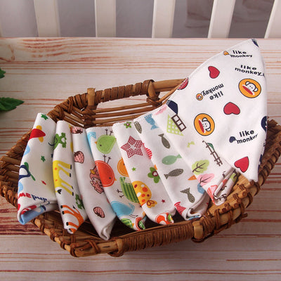 1pc Baby Bibs Infant Cotton Cute Cartoon Animal Zebra Newborn Soft Waterproof Feeding Triangle Scarf Towel Toddler Burp Clothes  UpCube- upcube