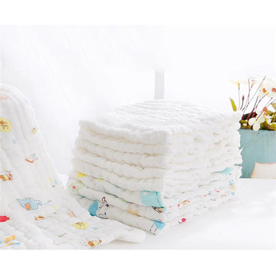 (5 pcs) Newborn Pattern Comfortable Diaper 9-layer Baby Gauze Cotton Diapers Washable Breathable Infant Diapers 46 * 17CM - Dailytechstudios