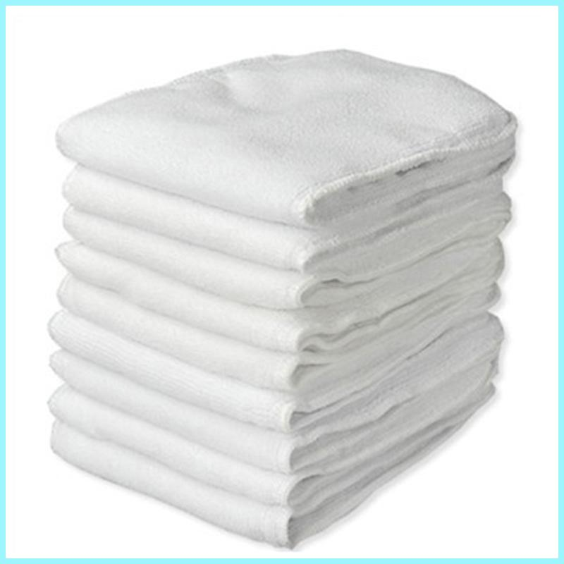( 5 Pieces A Lot) Baby Cloth Diaper Microfiber Insert 3 Layers Microfiber Liners