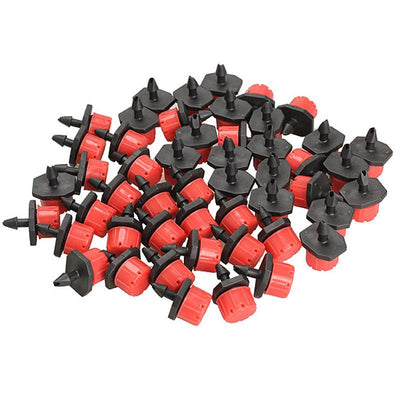 100pcs Micro Flow Dripper Drip Head 1/4 Inch Hose Garden Irrigation Misting  UpCube- upcube