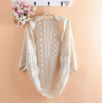 Best Selling!!2017 New Fashion Women Hollow Sweater Shawl Shrug Jacket+free shipping 1 piece