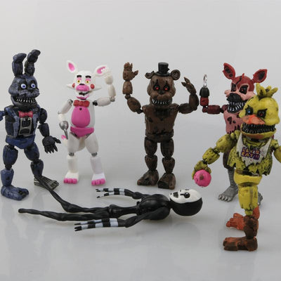 1 Pcs/set Lightening Movable joints Five Nights At Freddy's Action Figure Toys Foxy Freddy Chica PVC Model Dolls With kids toys - Dailytechstudios