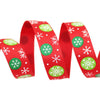 (5 yards/roll) Green and Red printed grosgrain ribbon christmas gift ribbon top quality satin ribbons - Dailytechstudios