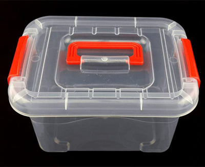 1PC 3 size small middle big 2016 New Fashion Tranasparent PP plastic storage box tool kit case with handle J0670  UpCube- upcube