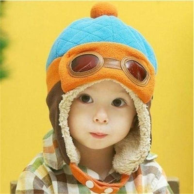 1 pcs New Arrival Winter Cool Kids Baby Toddler Boys Girls Pilot Cap Aviator Warm Earflap Hat Beanie Hot sale - Dailytechstudios