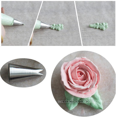 #352 Rose Leaves Decorating Tip Icing Nozzle Sugarcraft Cake Decorating Pastry Tools Seamless Icing Piping Nozzles Bakeware - Dailytechstudios