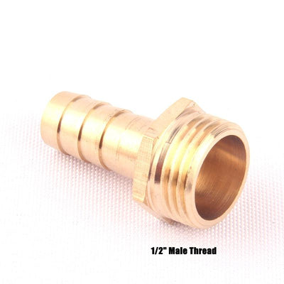 "1pcs NuoNuoWell Brass 1/2""-12mm Male Straight Hose Connector Garden Irrigation Watering Pipe Metal Adapter Coupler Fittings  UpCube- upcube"