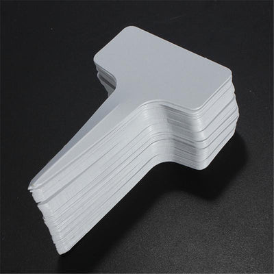 100pcs T-type Plastic Plant Tree Tags Marker Nursery Garden Blank Labels For Garden Ornnaments Tool  UpCube- upcube