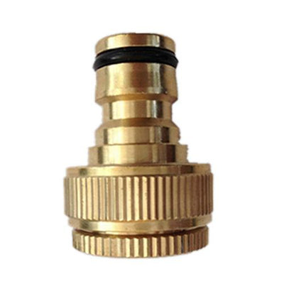 "1PCS New Pure Brass Faucets Standard Connector Washing Machine Gun Quick Connect Fitting Pipe Connections 1/2 ""3/4"" 16mm Hose  UpCube- upcube"