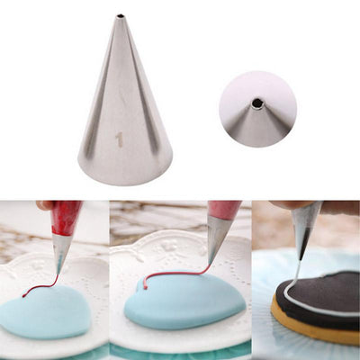 #1 1Mm Round Decorating Cake Piping Tips Icing Tubes Pastry Nozzles Cupcake Tools Cake Decorating Tools Writing Nozzles - Dailytechstudios