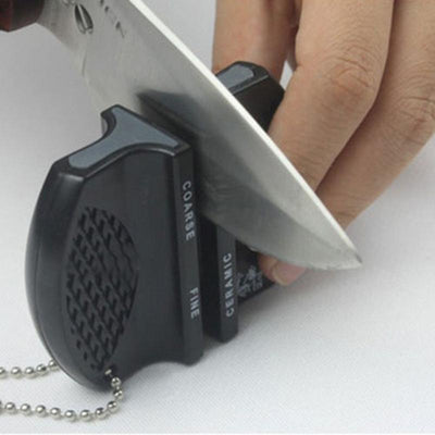 1pcs New Mini Ceramic Rod Tungsten Steel Camp Pocket Kitchen Knife Sharpener Tool  dailytechstudios- upcube