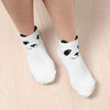 1/2 Pair Fashion Cotton Panda Ankle-High Socks Unisex Men Women 3D Printed Cartoon Animal Print Panda Ankle-High Funny Socks - Dailytechstudios