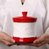 1 pcs Chinese style High-grade ceramic tea canister Gift storage jar Tea caddy Sugar Bowl Salt shaker storage tank 4 colors - Dailytechstudios