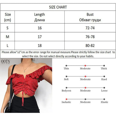 OOTN Tank Tops Women Summer 2018 Polka Dot Tunic Crop Top Female Off Shoulder Short Hot Top Tie Red Ruffle Camis Sleeveless Sexy