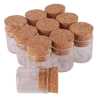 100pcs 4ml size 22*25mm Small Test Tube with Cork Stopper Bottles Spice Container Jars Vials DIY Craft  UpCube- upcube