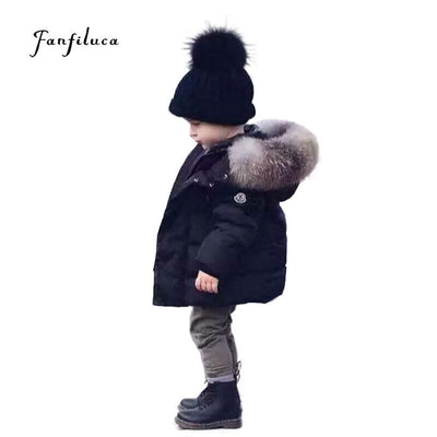 297e405af Fanfiluca Baby Winter Warm Coats Kids Boy Girl Thick Hooded Jacket ...