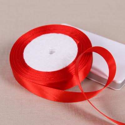 (25 Yards/roll) 6/10/15/20/25/40/50mm Red Color Single Face Satin Ribbon DIY Gift Wrapping Christmas Ribbons - Dailytechstudios