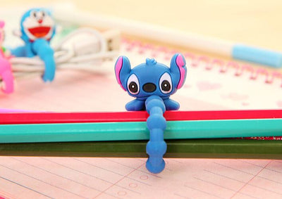 100PCS Cute Cartoon Universal Long Earphone Headset USB Silicone Rubber Cable Bobbin Winder For Iphone Ipad Samsung  UpCube- upcube