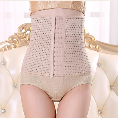 Body Sculpting Belt 2017 New Brand Style 13 Buckle Lady Abdomen Belly Woman Maternity Tied Breathable Coat Tight Clothes  UpCube- upcube