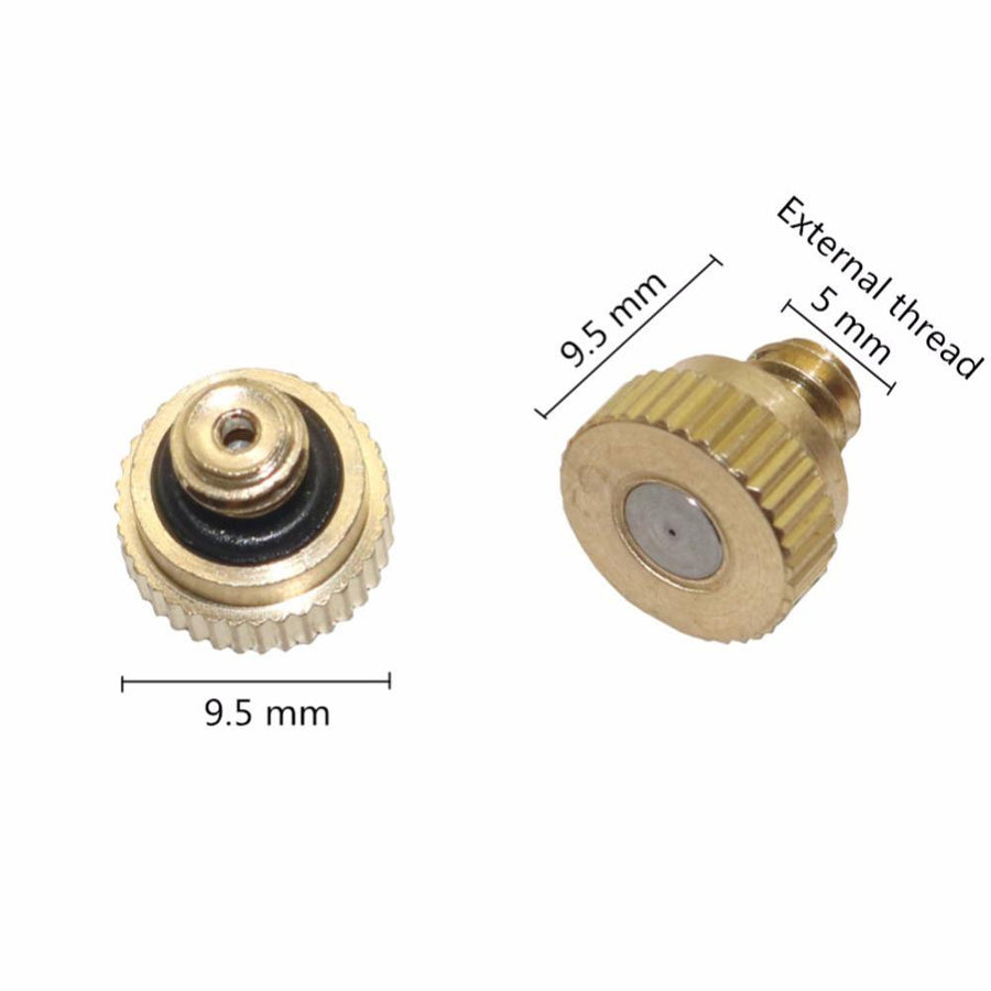 0.3 mm Low Pressure Water Spray Nozzle with 4mm Male Thread Garden Irrigation Sprinklers Industrial Cooling Nozzle 10 Pcs - Dailytechstudios