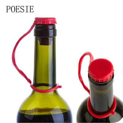 1pcs Kitchen Anti-lost Silicone Hanging Button Seasoning Beer Wine Cork Stopper Plug Bottle Cap Cover Kitchen Tools  dailytechstudios- upcube